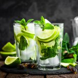 Mint mojito with rum and lime