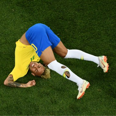 Neymar was the butt of his own joke